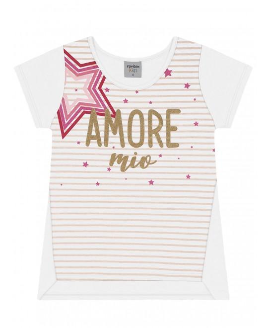 Blusa Infantil Amore Mio - Rovitex