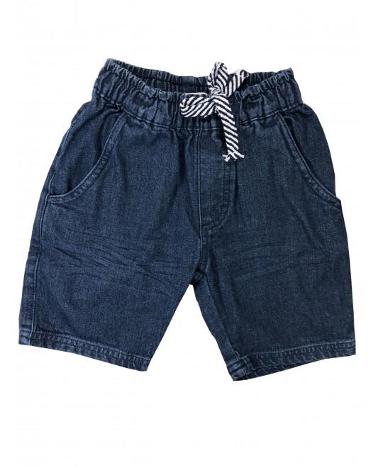 Bermuda Infantil Jeans com Elástico - Have Fun