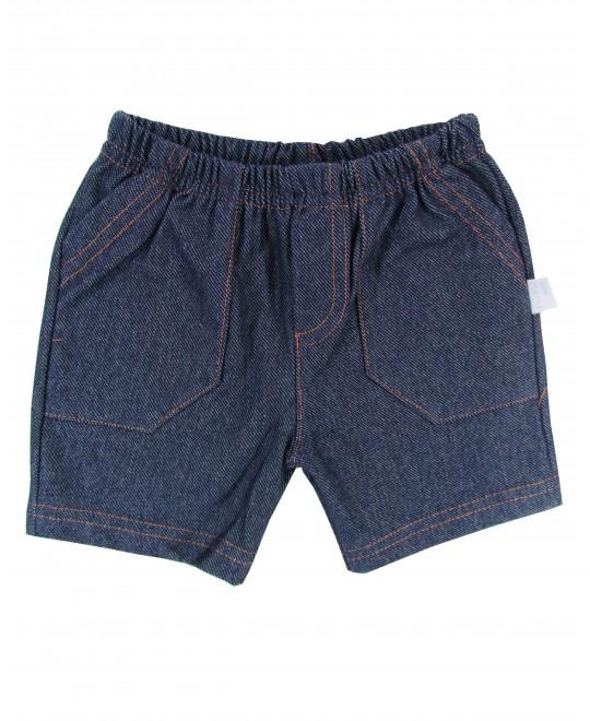 Bermuda Infantil em Malha Imitando Jeans - Piu Piu