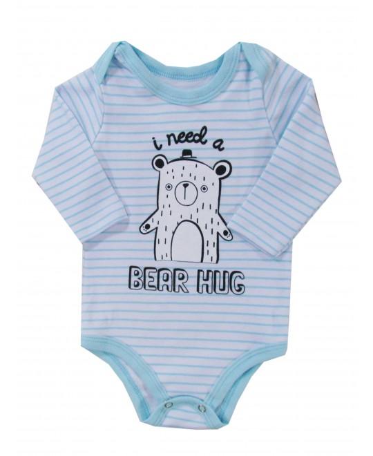 Body Bebê Manga Longa Bear Hug - Rovitex Baby