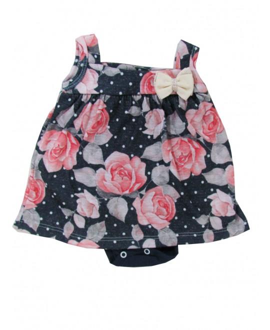 Body Vestido Regata Floral - Big Day