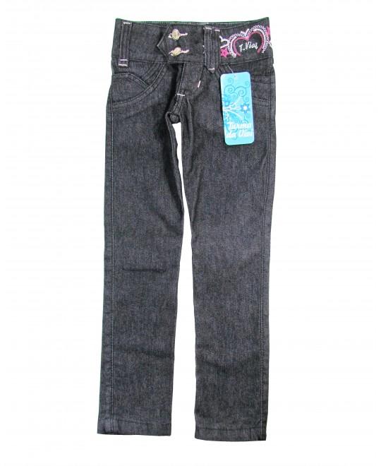 Calça Jeans Infantil com Bordados - Turma da Vivi