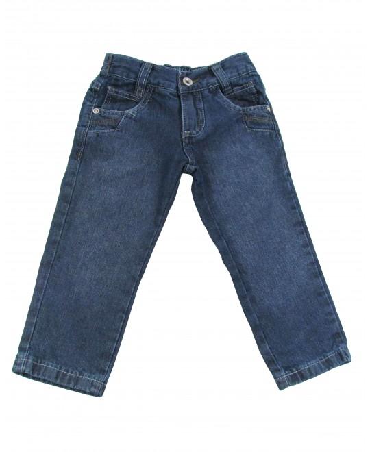 Calça Jeans Infantil com Pespontos Brancos - Akiyoshi