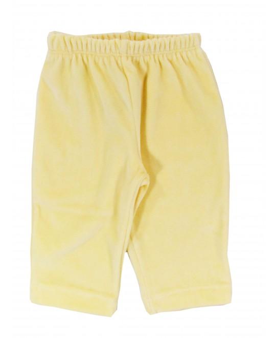 Calça para Bebê Unissex em Plush Amarelo - Piu Blu
