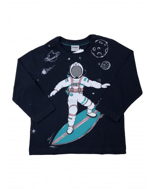 Camiseta Infantil Manga Longa Astronauta - Rovitex