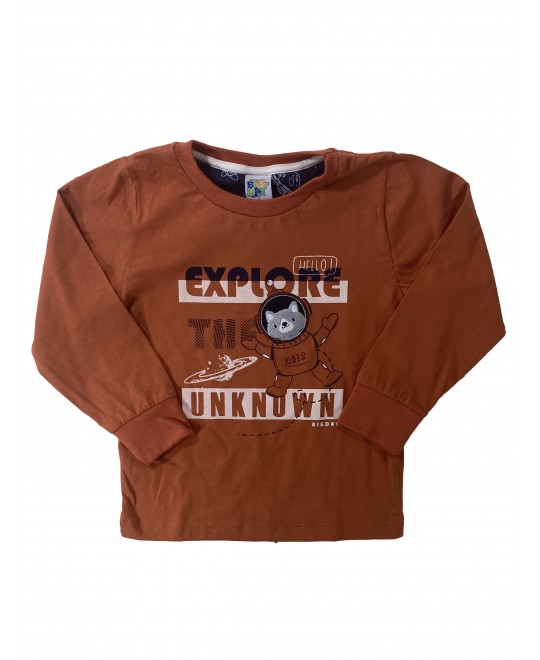 Camiseta Manga Longa Infantil Explore Unknown - Big Day