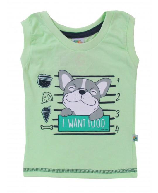 Camiseta Regata Bebê I Want Food - Big Day