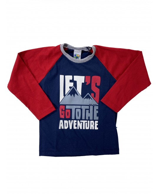 Camiseta Manga Longa Let's Go To The Adventure - Big Day