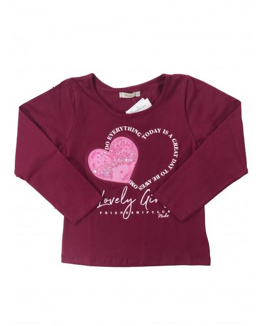 Camiseta Manga Longa Menina Lovely Girls  - Rovitex