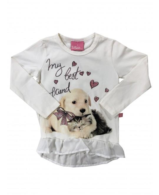 Blusa Infantil My Best Friend - Le Petit