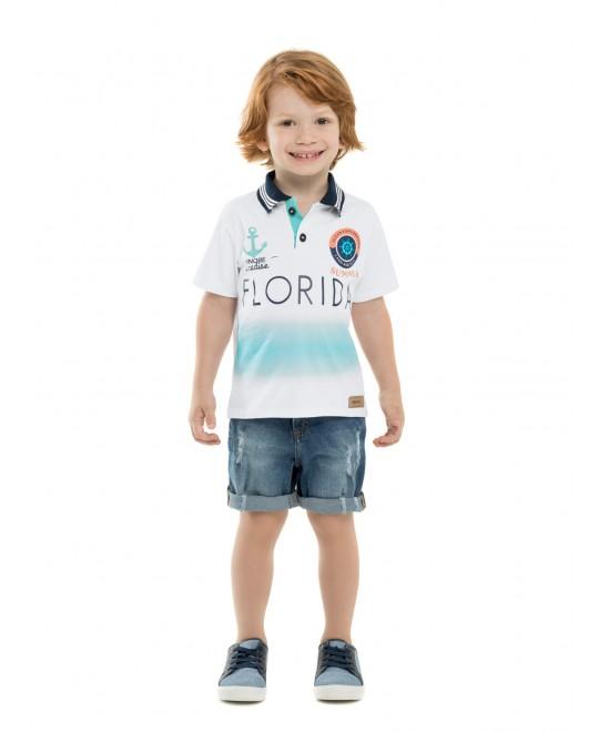 Camiseta Infantil Polo Florida - Minore