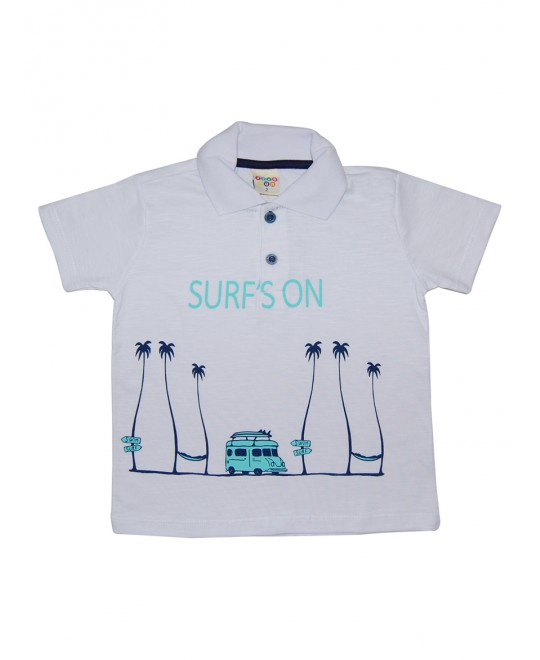 Camiseta Infantil Gola Polo Surf Son - Have Fun