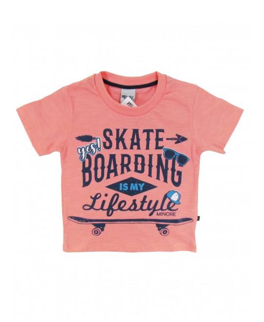 Camiseta Infantil Skate Boarding  - Minore