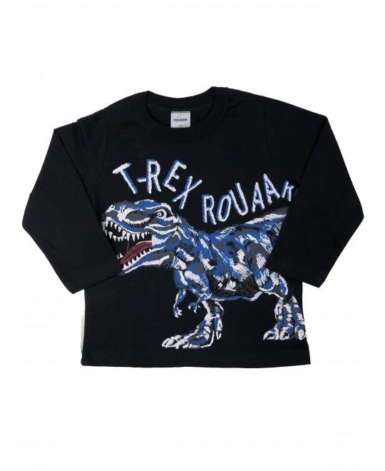 Camiseta Infantil Manga Longa T-Rex Rouaa - Rovitex