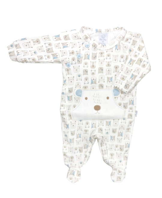 Macacão Bebê Longo Ursinhos e Carinhas - Piu Piu