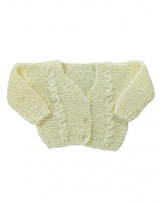 Casaquinho de Lã Amarelo - Albarella Infantil