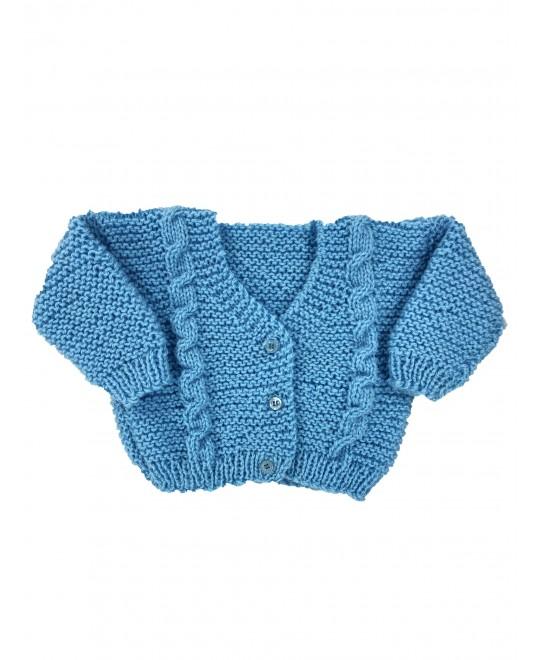 Casaquinho de Lã Azul Céu - Albarella Infantil