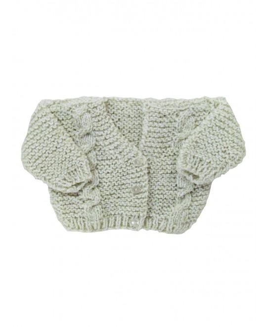 Casaquinho de Lã Esverdeado - Albarella Infantil