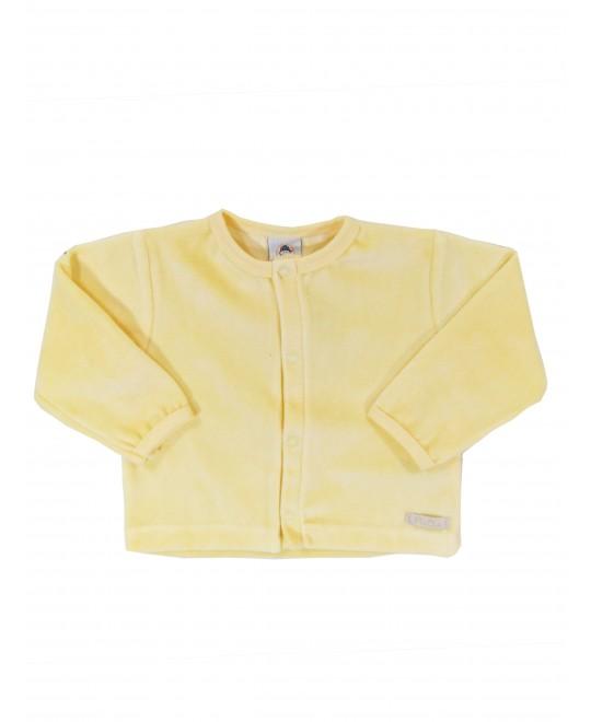 Casaquinho para Bebê em Plush Amarelo - Piu Blu