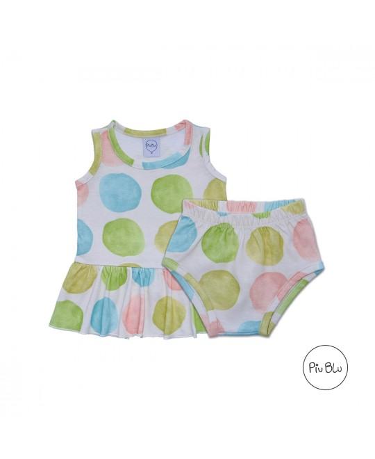 Conjunto Bebê Regata  Bata Bolas - Piu Blu