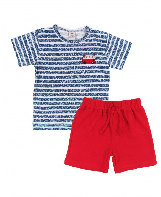 Conjunto Infantil de Camiseta com Shorts Kombi - Piu Blu