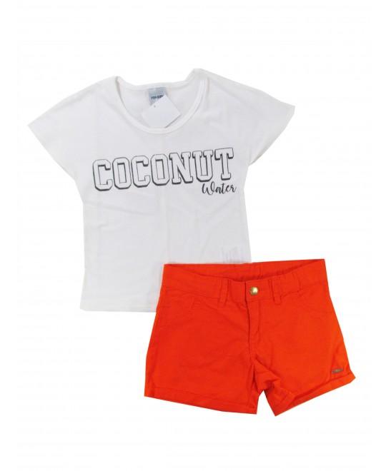 Conjunto Infantil Feminino Coconut Water - Rovitex