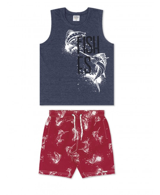 Conjunto Infantil Regata Fishes - Rovitex