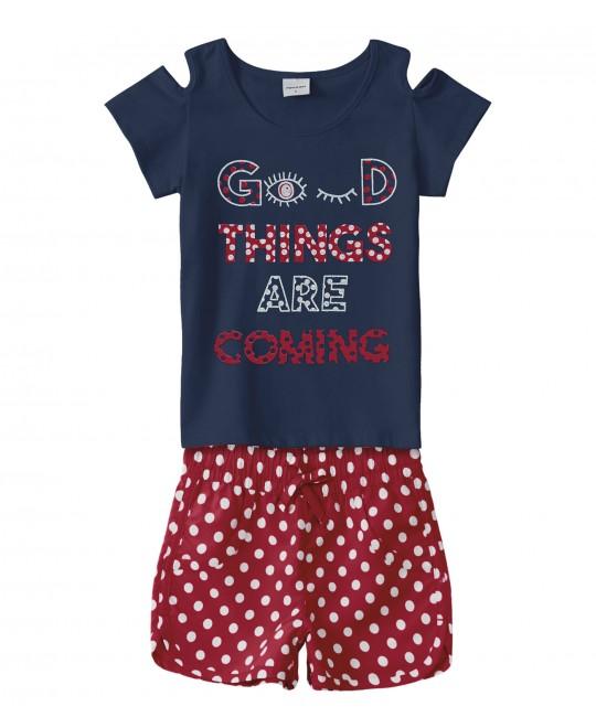 Conjunto Infantil Menina Good Things - Rovitex