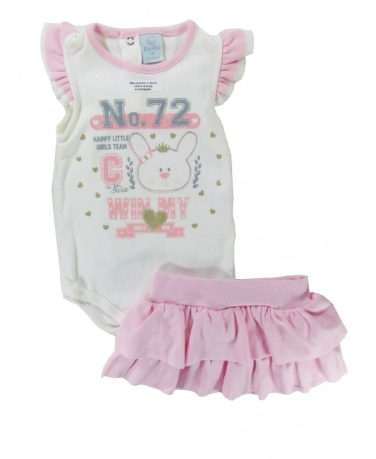 Conjunto Bebê Happy Little Girls Team - Piu Piu