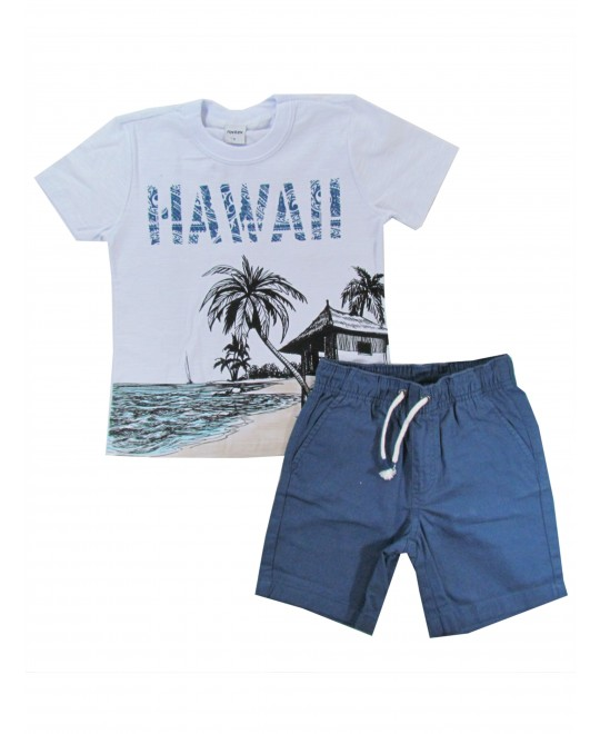 Conjunto Infantil Masculino Hawai - Rovitex