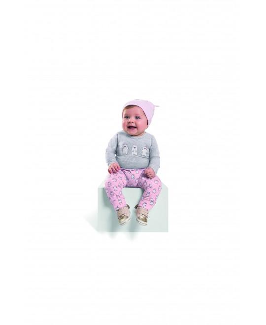 Conjunto de Body com Touca Hello Winter - Livy