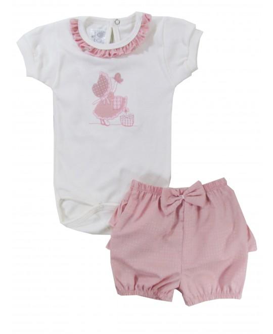 Conjunto Bebê Body e Shorts Menininha - Hira-Imi