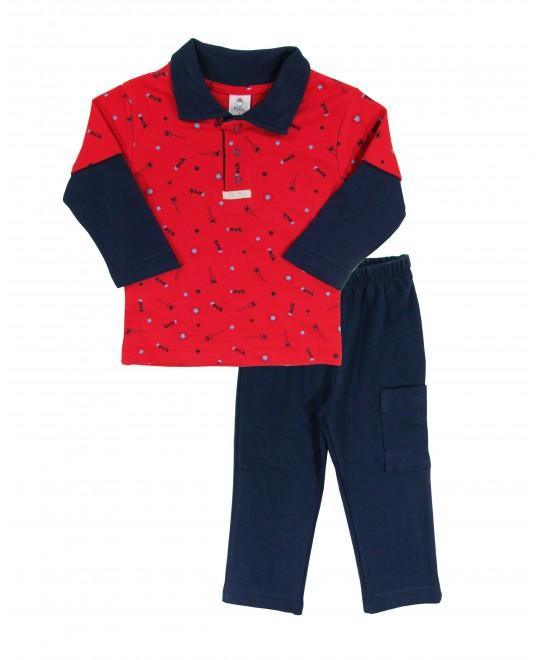 Conjunto Infantil Gola Polo Rock - Piu Blu