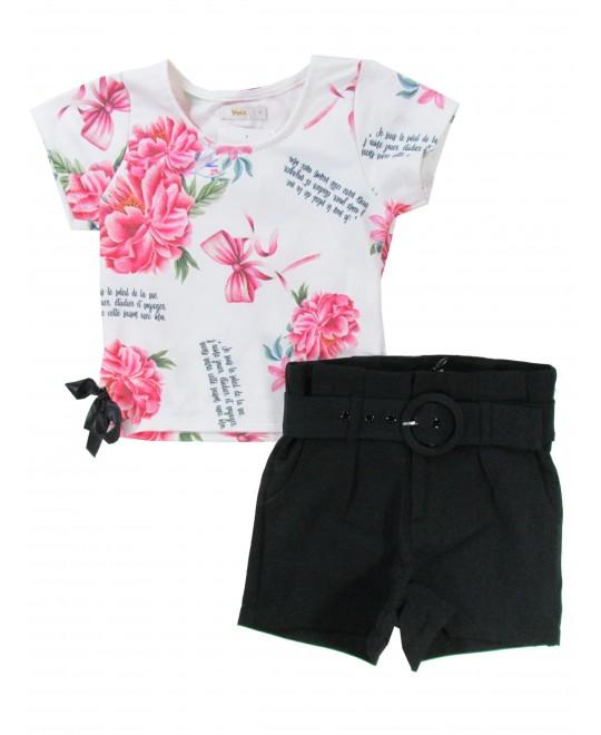 Conjunto Infantil Le Soleil com Shorts em Malha - Trick Nick