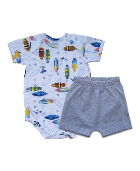 Conjunto Bebê Saruel Surf - Piu Blu