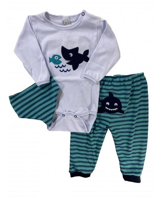 Conjunto para Bebê Body Tubarão - Hira-Imi
