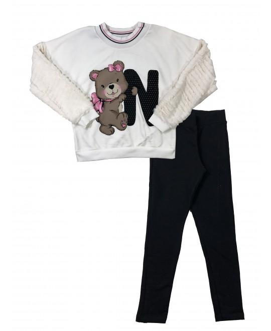 Conjunto Infantil Feminino Ursa Abraçada - Trick Nick