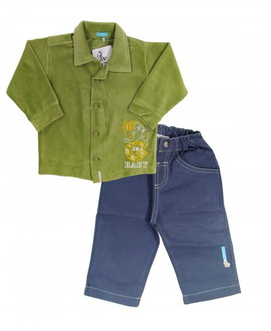 Conjunto Bebê Camisa de Veludo - Gira Baby