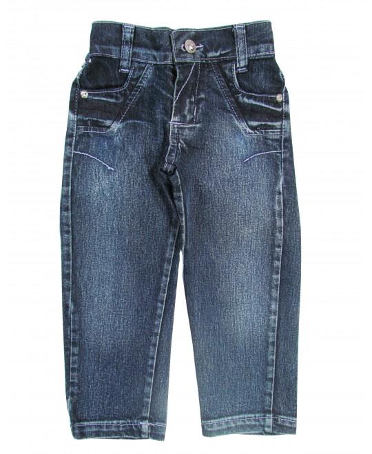 Calça Jeans Infantil com Pespontos Lilás - Chicote