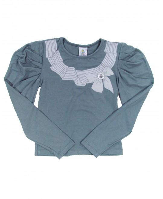Blusa Infantil Laço com Pérolas - F di Filló
