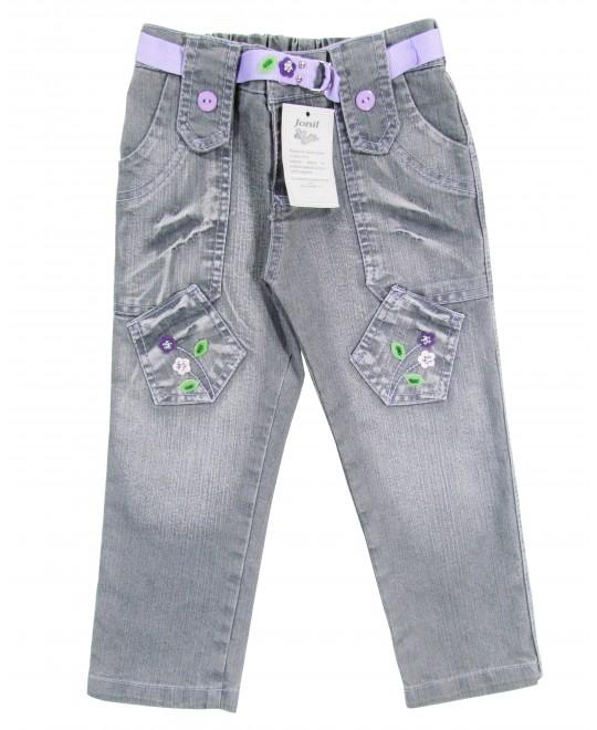 Calça Jeans com Cinto em Tecido - Jonil