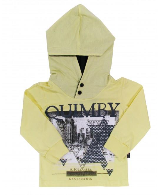 Camiseta Infantil com Capuz Future Here - Quimby