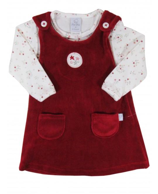 Conjunto para Bebê de Salopete e Body Florzinhas - Piu Piu