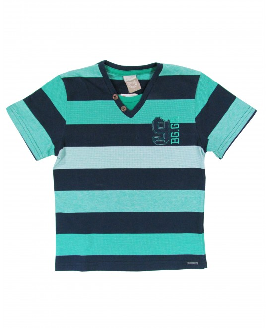 Camiseta Infantil Listrada BG.GR - Boca Grande