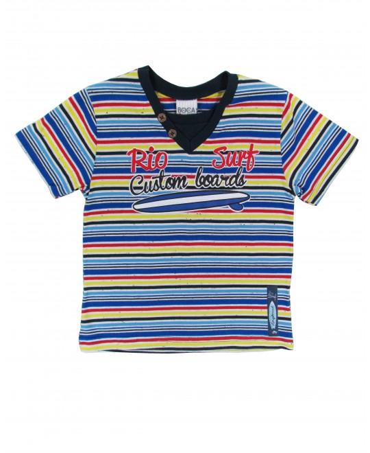 Camiseta Infantil Listrada Fábio - Boca Grande