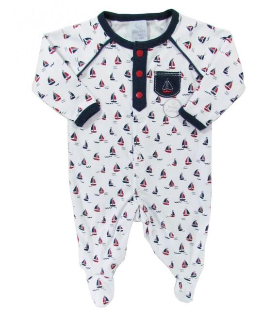 Macacão para Bebê Menino Barquinhos - Piu Piu