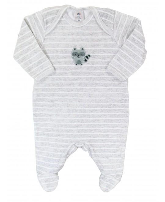 Macacão para Bebê Unissex Algodão Egípcio Guaxinim - Piu Blu