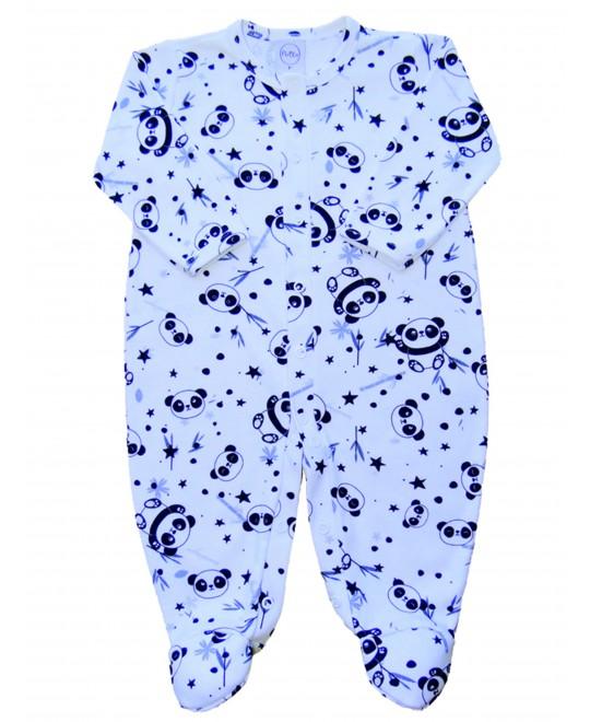Macacão Comprido Bebê Pandinhas - Piu Blu
