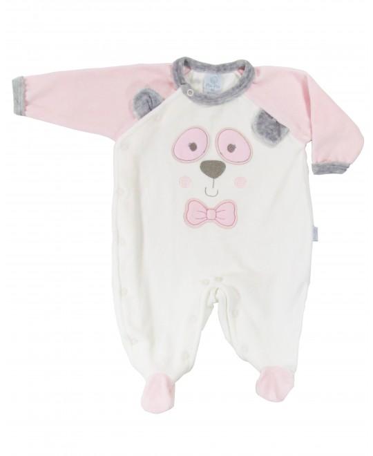 Macacão para Bebê Panda Feminino - Piu Piu