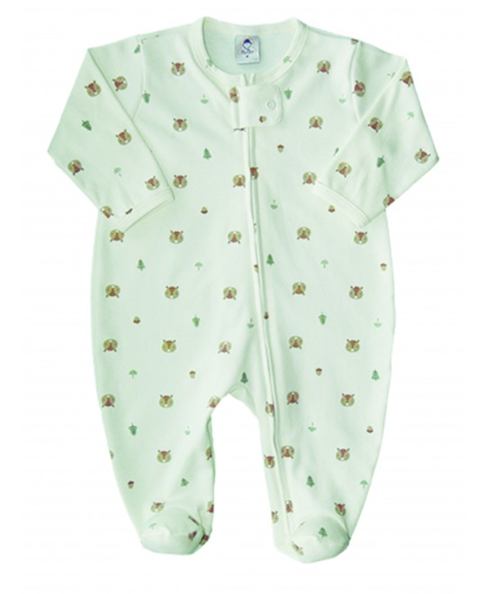 Macacão Bebê Unissex Estampado Raposinha - Piu Blu